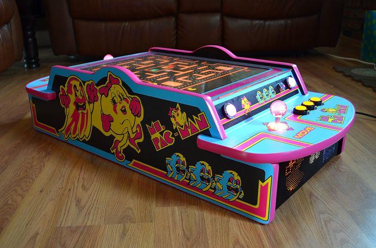 Little Ms Pac Man A Portable Cocktail Cab Arcade