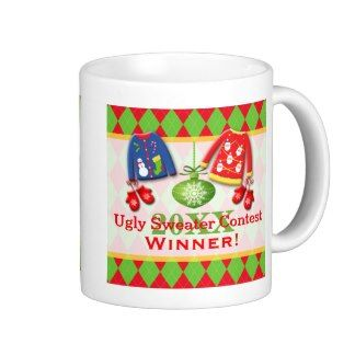 Ugly Christmas Sweater Contest Winner Mug