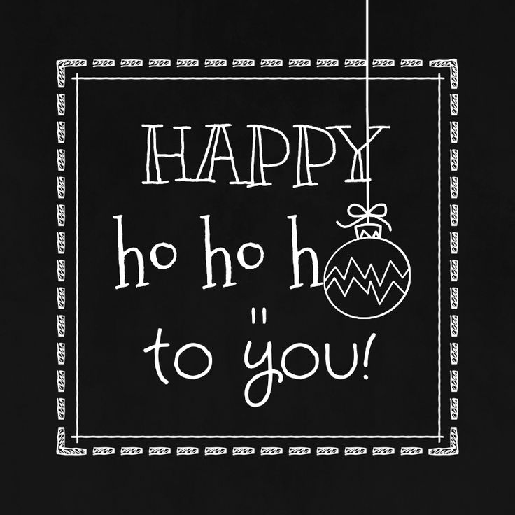 Zwart wit kerstkaart met schoolbord print. Daarbij kaders en kerstbal ornamenten in krijtlijn. Verkrijgbaar bij #kaartje2go voor € 1,89