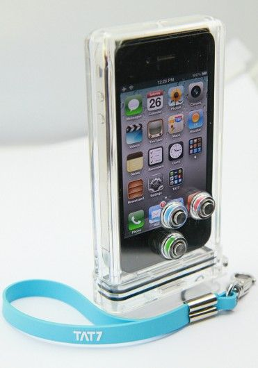TAT7 case keeps your iPhone camera clicking underwater! There was a time, back in the days of film cameras, when the only ways of getting underwater photos were to buy an expensive waterproof SLR, an expensive waterproof housing for a regular SLR, or a cheap disposable waterproof camera that took horrible shots. Now, all you have to do is buy a housing like the TAT7 iPhone Scuba Case, and start snapping high-res pics – assuming you've got the phone to go with it. $84.95