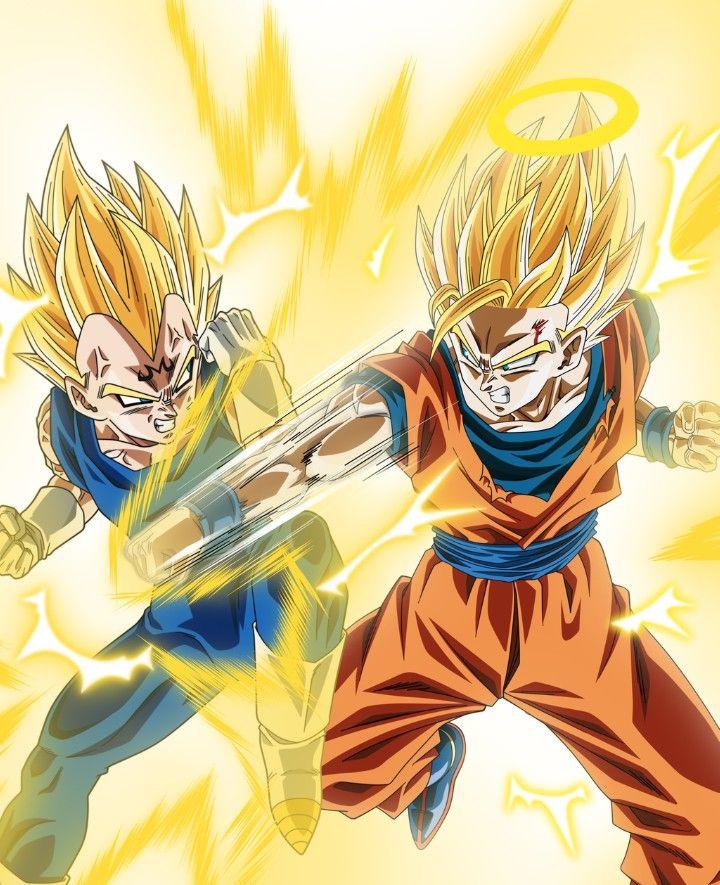 Majin Vegeta Vs Goku Super Saiyan Dragon Ball Z Dragon Ball