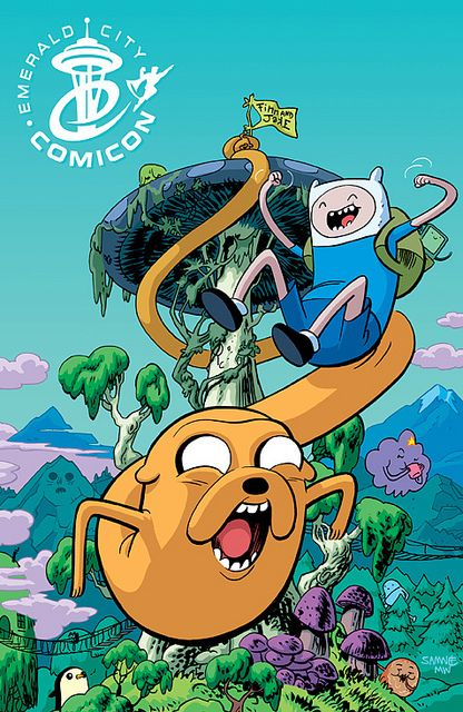 Exclusive Adventure Time Comic Book Cover    Exclusive Adventure Time comic book cover by Chris Samnee for Emerald City Comicon 2012. Published by BOOM!