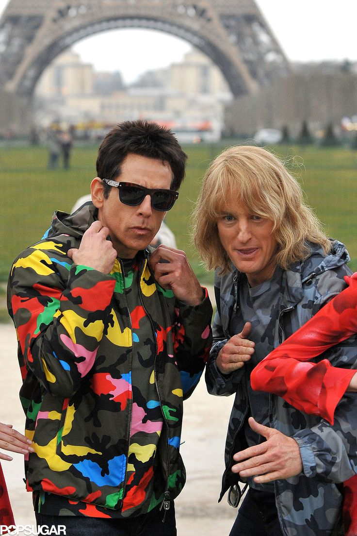 Ben Stiller and Owen Wilson Take to the Streets of Paris, Zoolander Style