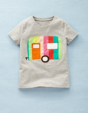"""another girl shirt with stereotypical boy motif -- I love the """"radical"""" fashion of #miniboden. (I put """"radical"""" in quotes because it shouldn't be considered radical, but it is seriously the only clothing line I know of that breaks the gender stereotyping lines of cats and butterflies are for girls and dogs and vehicles are for boys.)"""