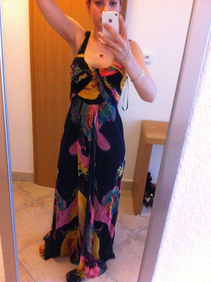 Maxi silk dress. Enjoy Yourself