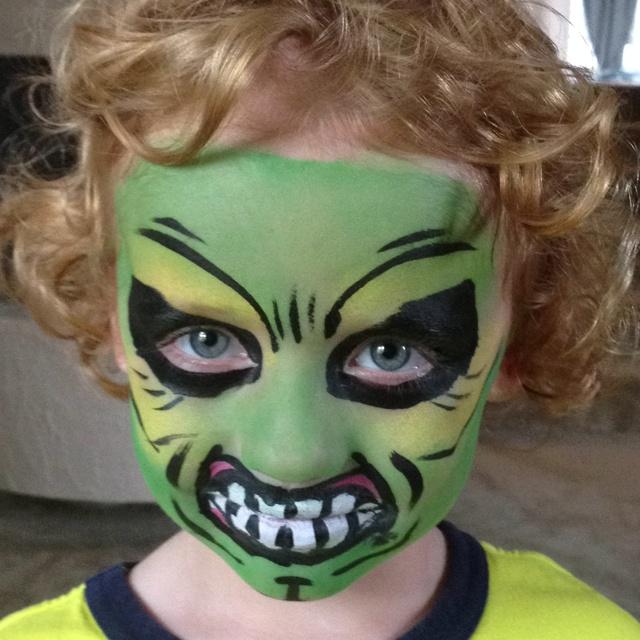 Pics Of Hulk Face Painting