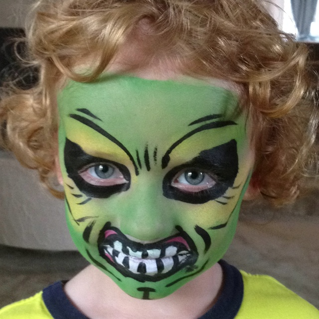 hulk face paint face painting pinterest. Black Bedroom Furniture Sets. Home Design Ideas