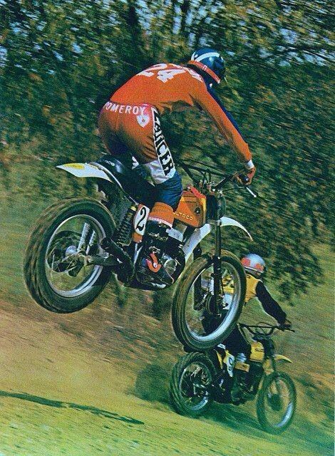Vintage Bultaco Motocross Jim Pomeroy Motocross Racer