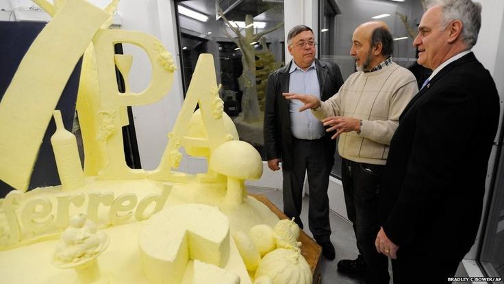Artist Jim Victor talks about the 2013 butter sculpture