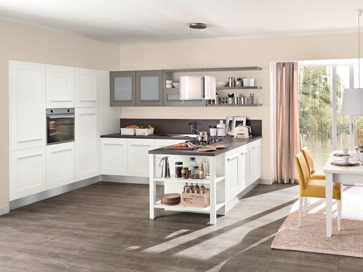Lacquered kitchen with integrated handles Gallery Collection by Cucine Lube