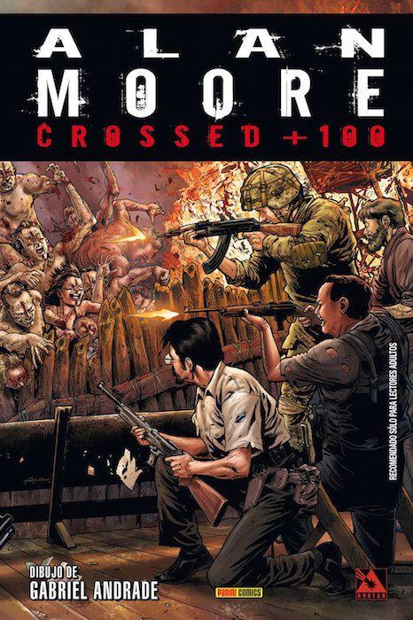 Crossed + 100 ten lugar no futuro, onde Alan Moore examina como se reconstrúen a civilización despois dunha terrible apocalipse. Unha obra que redefine o cómic de terror e para a que non é necesario ler previamente nada sobre Crossed.