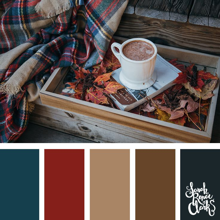 Warm vibes for Autumn! | Click for more fall color combinations, mood boards and seasonal color palettes at http://sarahrenaeclark.com #color #colorscheme #colorpalette