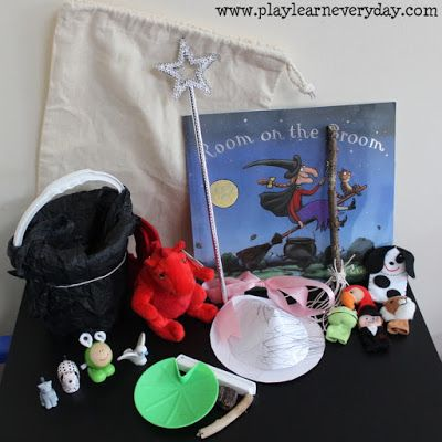 A fun way to explore the story of Room on the Broom with assorted props and crafts.