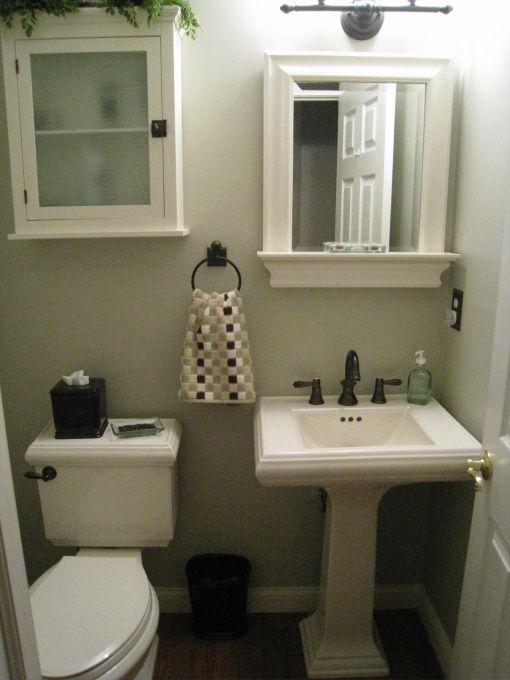 Small half bath for the home pinterest small half - Small half bath ideas ...