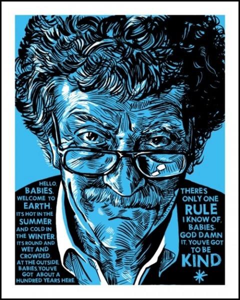 Tim Doyle, Got to Be Kind (Kurt Vonnegut): Books, Quotes, Art Prints, Be Kind, Tim Doyl, Baby, Things, Kurt Vonnegut, God Damn
