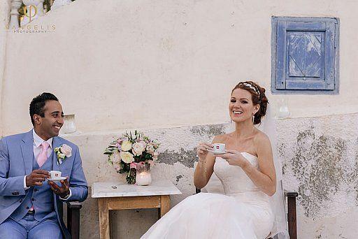 Poema Hindu & Jewish Wedding Event  in Santorini Greece
