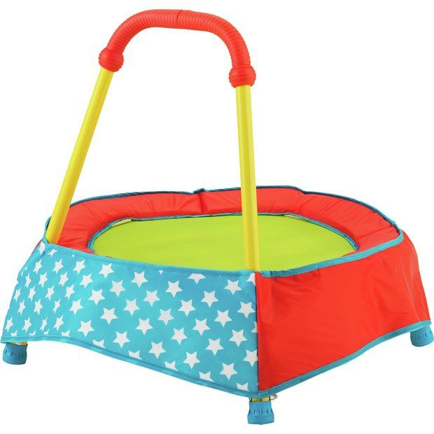 Buy Chad Valley Indoor Toddler Trampoline - Blue at Argos.co.uk - Your Online Shop for Pre-school outdoor toys and games, Pre-school outdoor toys, Baby and pre-school toys, Toys.