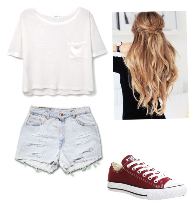 """""""Summer Fun"""" by xo-claire2416 on Polyvore featuring MANGO and Converse"""