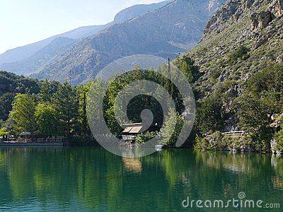 Mountain lake in Zaros, Crete,Greece