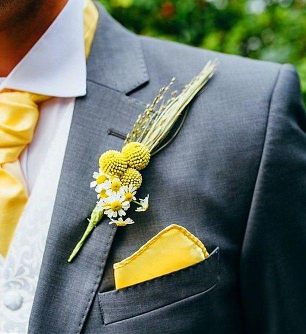Gelb als Hochzeitsfarbe ist erfrischend, auffällig, heiter und passt zu ebenso aufgeweckten Brautpaaren, die eine sympathische Sommerhochzeit feiern …