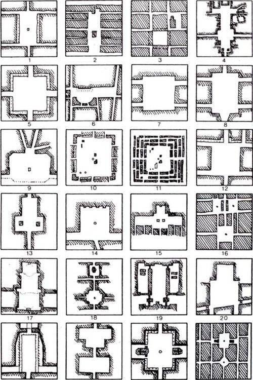 Orthogonal plans for squares Rob Krier, Typological & morphological elements of the concept of urban space, London, AD and Acroshaw Ltd ...