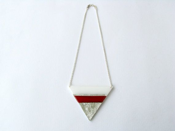 Christmas SaleAcrylic Triangle NecklaceHand by SotiriaVasileiou