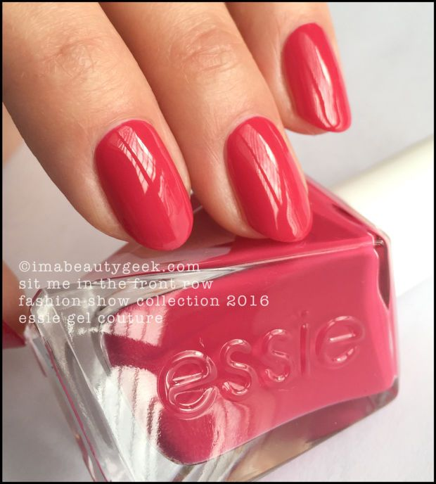 Essie Sit Me In the Front Row - Essie Gel Couture 2016. All the swatches 'n stuff at imabeautygeek.com