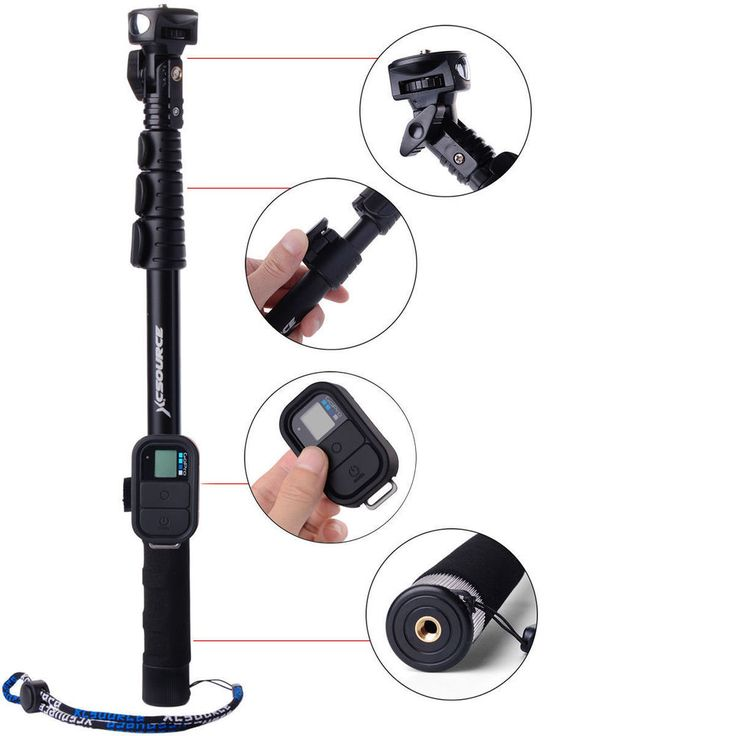 Handheld Monopod Extendable Selfie Stick Wifi Remote Case for GoPro 3 3+ 4 DC558 in Cameras & Photography, Tripods & Supports, Tripods & Monopods | eBay