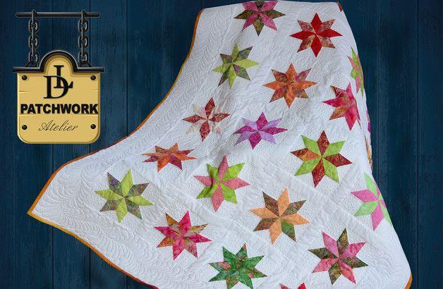 Collection: Bali Pops Hersteller: Hoffman Fabrics Quilt Patchwork-Technik eingenäht und dann reich Quilten. Sie wurden für die Herstellung von hochwertigen Stoffen aus 100% Baumwolle verwendet....