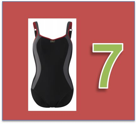 Heute in Türchen Nummer 7 der tolle neue Sportbadeanzug von Panache. Mit integriertem Sport-BH für sportives Schwimmen.