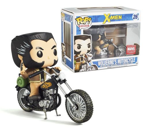 FUNKO POP! Rides Marvel Wolverine's Motorcycle #26 EXCLUSIVE Mint Condition