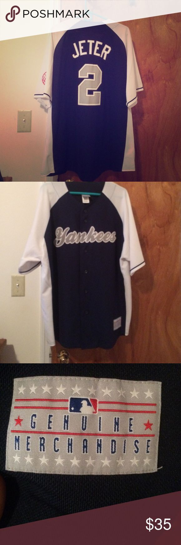 Derek Jeter Jersey Genuine MLB Merchandise. Derek Jeter jersey. Too big for me now, only reason I'm selling it. Size 2xl MLB Official Merchandise  Other