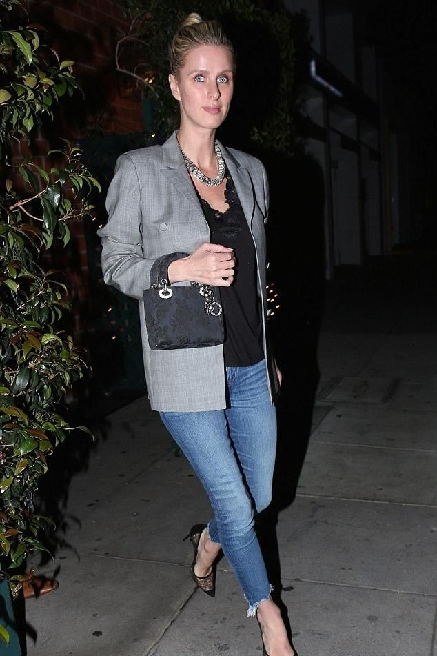 Nicky Hilton wearing Christian Dior Lady Dior Bag and Rta Blaire Blazer in  Wales ea3ee3bb6802f