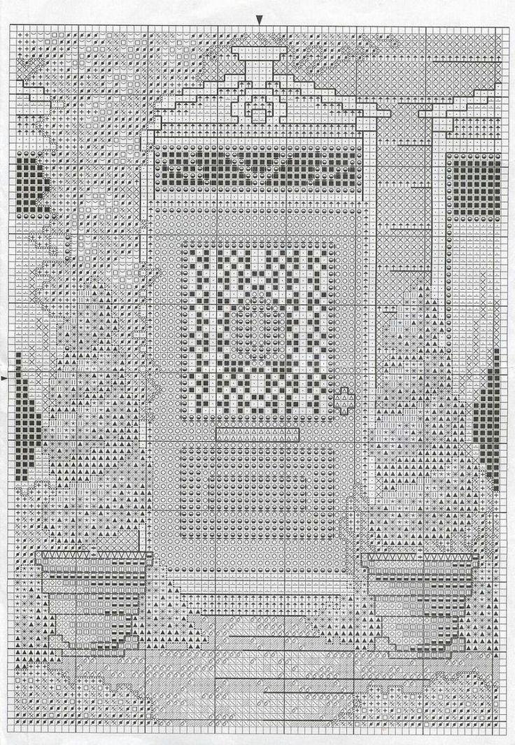 Schema punto croce Porta Blu 02