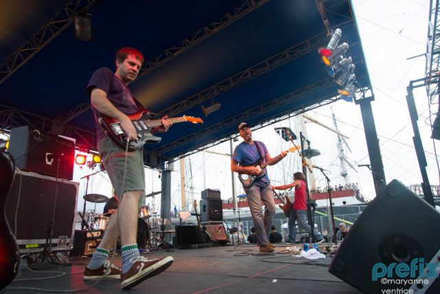 Photo gallery  of Archers of Loaf, The Drums. Crocodiles, Delicate Steve, Hospitality, Team Spirit, Bleached, Nick Waterhouse, Doldrums, Fast Years, The Smiling Lies at 4Knots Music Festival at The Southstreet Seaport in New York City  (July 14, 2012)