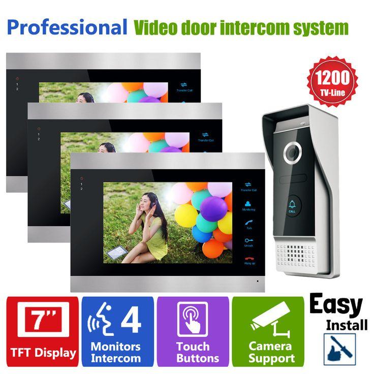 Homefongモニタービデオドア電話インターホン呼び鈴7インチ液晶画面のデジタルドアビューア1200tvlカメラ付きドアベルインターホン