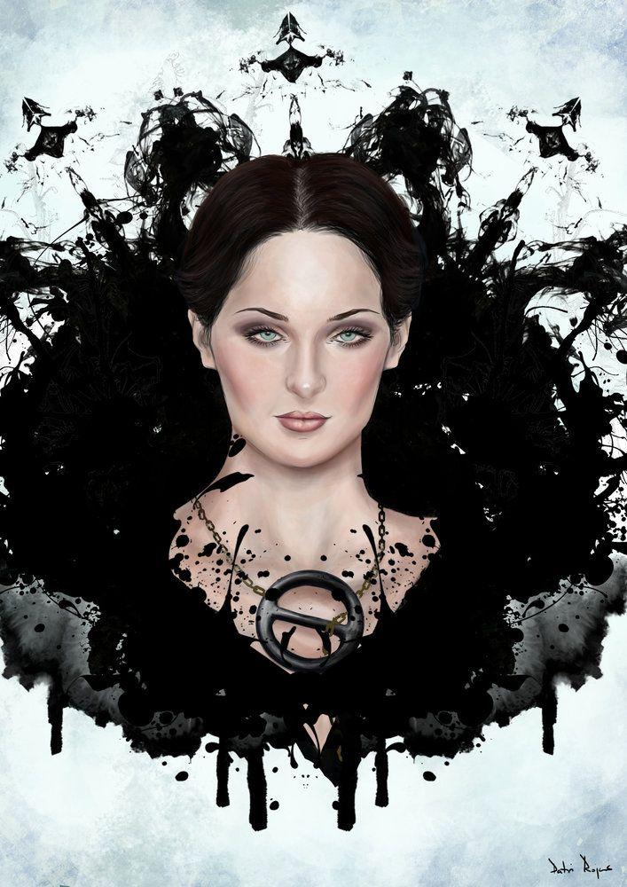 Sansa Stark Dark, por Rojher en retratos | Dibujando.net  #temática-general #retratos #vanguardia #gótico-moderno #sansastark #juegodetronos