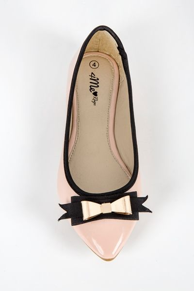 Rage | pink, pointy, pumps, patent, bow