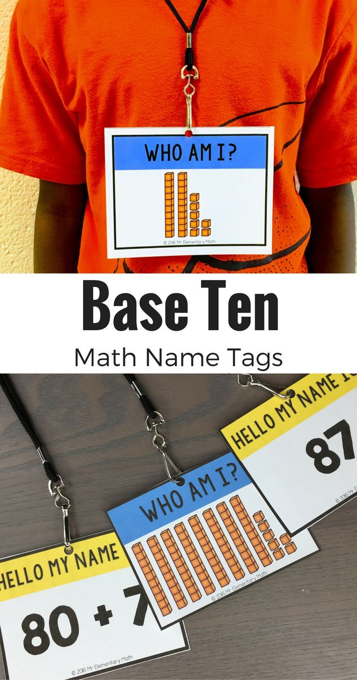 Use Base Ten Math Name Tags to teach and review number sense, place value, comparing numbers, ten more and ten less, and MORE!
