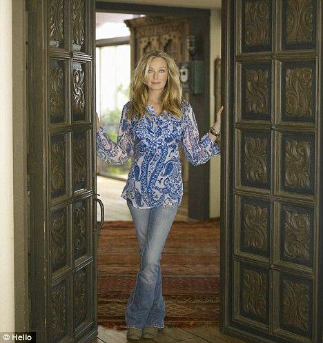 Bo Derek pictured at her ranch in Santa Ynez, California.