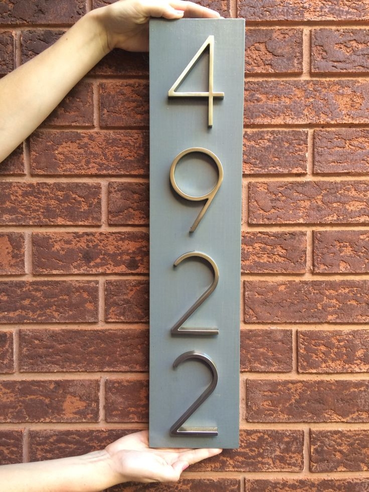 Wall Clip Art House Number Plaques