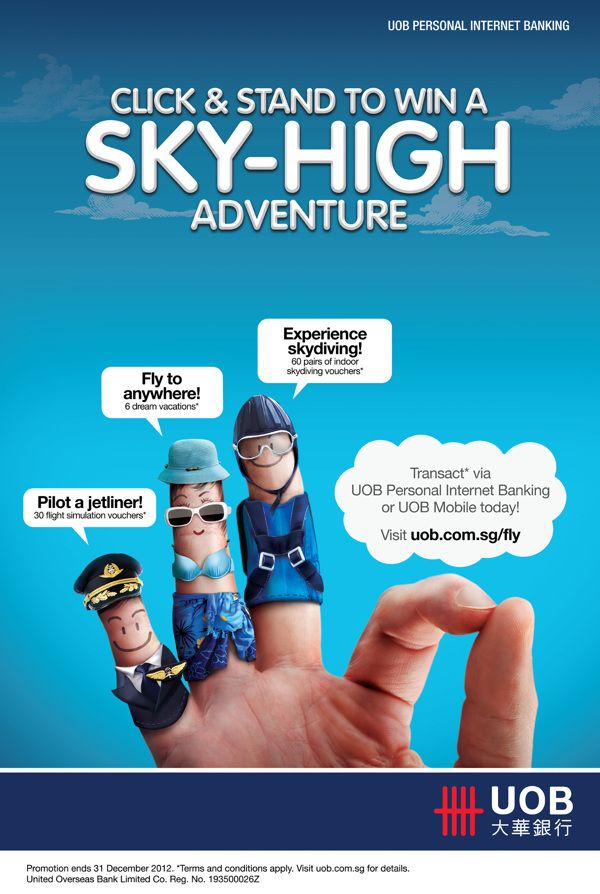 UOB Personal Internet Banking Sky-High Campaign by Lee Lye Urn, via Behance