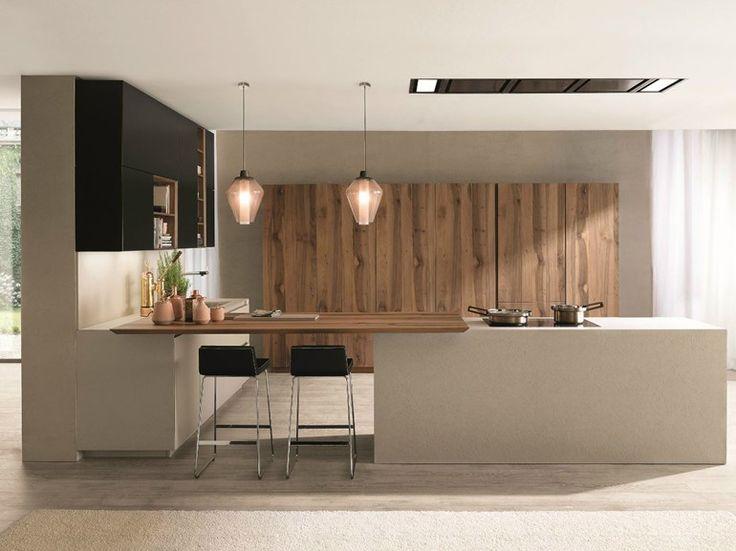 Cocina integral con isla FILOANTIS by Euromobil | diseño Roberto Gobbo
