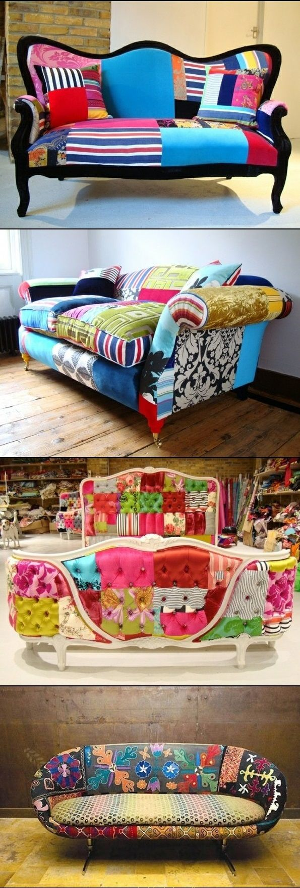 Colored DIY Sofa Decoration and Renovation