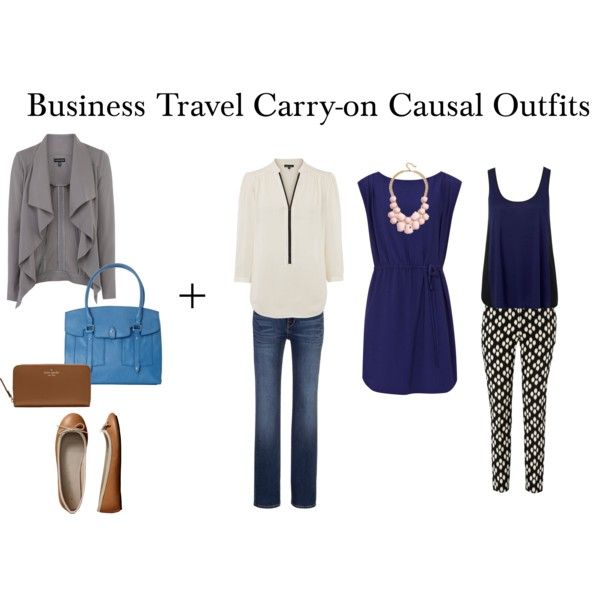 """""""Business Travel Carry-on Causal Outfits"""" by packingforthejourney on Polyvore"""