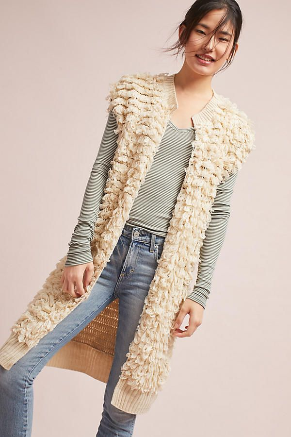 Slide View: 1: Looped Lengths Sweater Vest