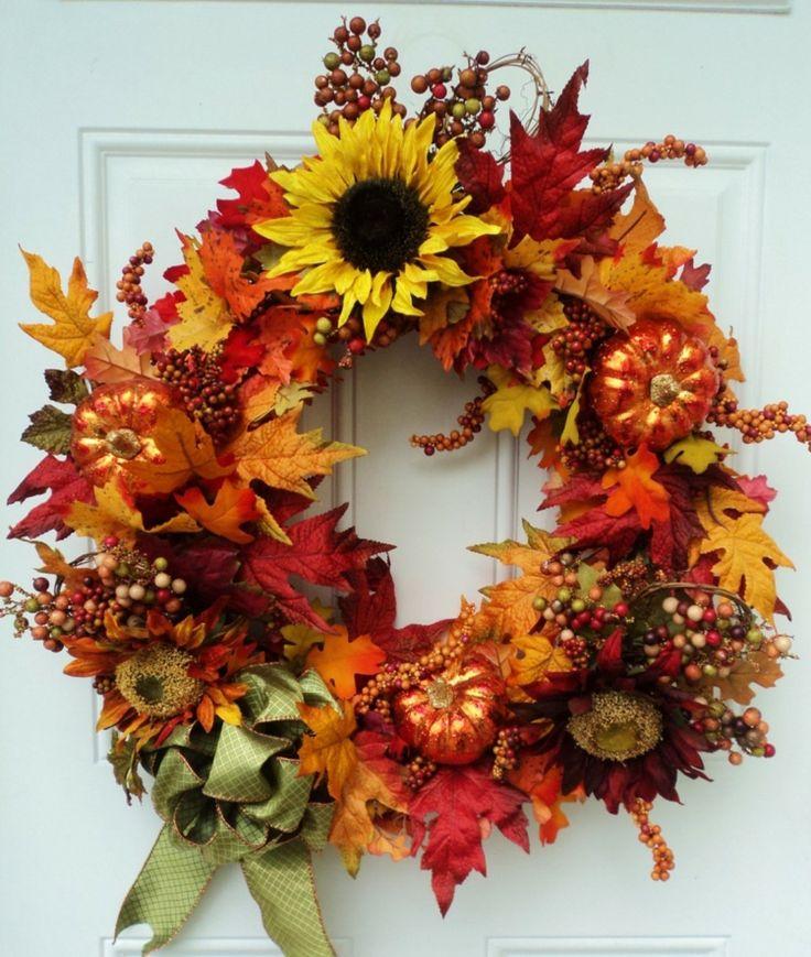 Couronne d'automne DIY – une idée de bricolage rapide