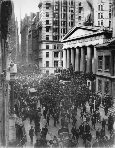 Financial Panic of 1907:  A six-week stretch of runs on banks in New York City and other American cities in October and early November of 1907. Triggered by a failed speculation that caused the bankruptcy of two brokerage firms. But the shock that set in motion the events to create the Panic was the earthquake in San Francisco in 1906. The devastation of that city drew gold out of the world's major money centers. This created a liquidity crunch that created a recession starting in June of…