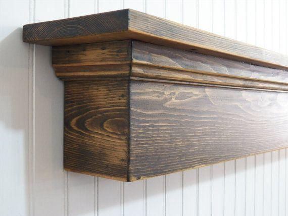 $83 Rustic Wall Shelf, Country Shelf, Distressed Mantle, Mantle Shelf, Floating Shelf, Fireplace Mantle, Shabby Shelf, Housewarming Gift