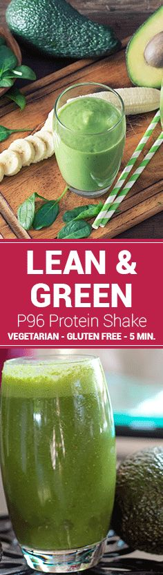 This super-creamy Lean & Green Plexus 96® protein shake tastes like banana and vanilla while packing a healthy punch from avocado and spinach.